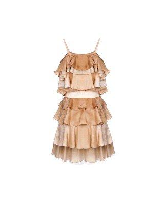Міні-сукня із шовку зі зйомним поясом