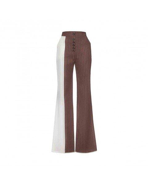 Двохколірні брюки-кльош